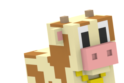 Blocky Farm Cow